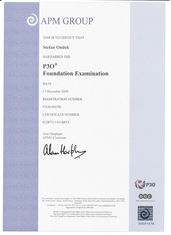 P3O - Portfolio, Programme & Project Offices - Foundation certificate