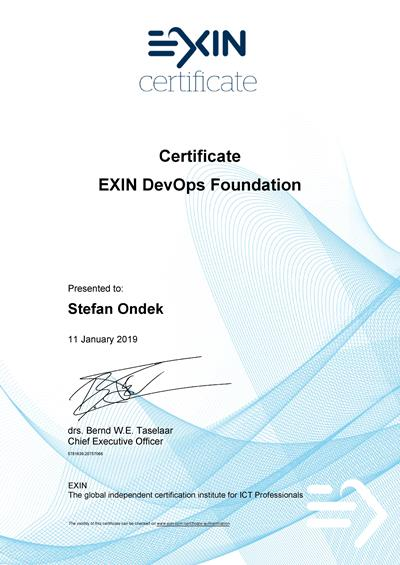 DevOps Foundation certificate Stefan Ondek