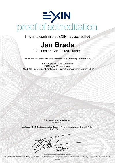 proof of accreditation - by EXIN