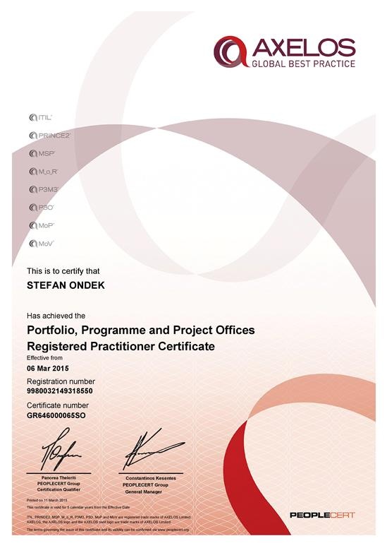 P3O - Portfolio, Programme & Project Offices - Practitioner certificate